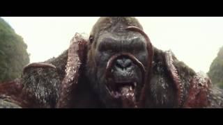 Kong Skull Island - Kong Battles Kraken And Eats IT - Movie Clip - HD