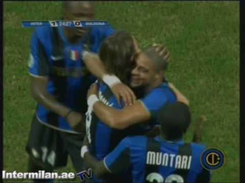 Inter-Bologna 1-0 gol Ibrahimovic di tacco...