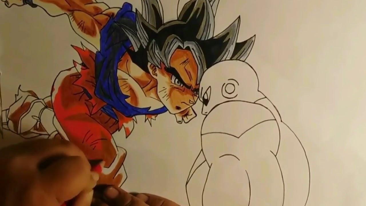 Dibujos De Goku Ultra Instinto Vs Jiren Para Colorear
