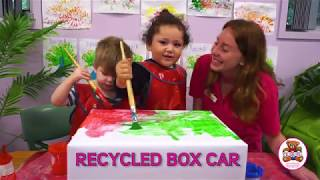 Recycled Box Cars Childcare Centre Sustainability Activity