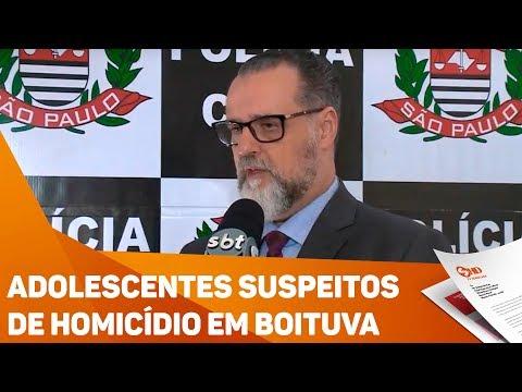 Adolescentes suspeitos de homicídio em Boituva - TV SOROCABA/SBT