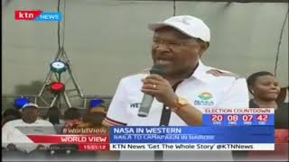 NASA co-principal Musalia Mudavadi leads the opposition to western Kenys