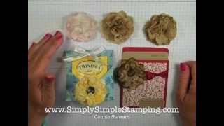Simply Simple UPCYCLED PAPER NAPKIN FLOWER By Connie Stewart