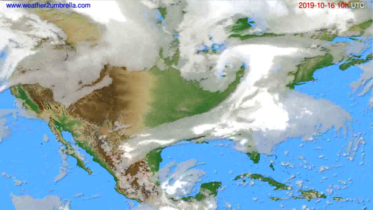 Cloud forecast USA & Canada // modelrun: 00h UTC 2019-10-14