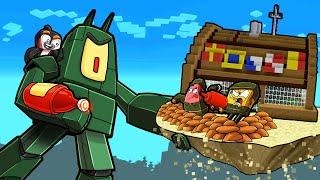 Spongebob ROBOT PLANKTON Map Wars! (Minecraft)