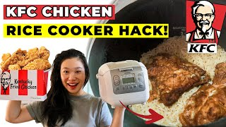 I Tried The Viral Japanese KFC RICE COOKER RECIPE HACK! Delicious Kentucky Fried Chicken Rice Recipe