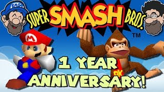 Revisiting the FIRST game we played on Hobo Bros || SUPER SMASH BROS 64 - dooclip.me