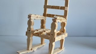 How to Make a Wood Rocking Chair with Clothespins Tutorial