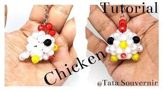 How To Bead Animal Keychain Chicken / DIY / Beading Tutorial/Kerajinan Manik/Manik Manik