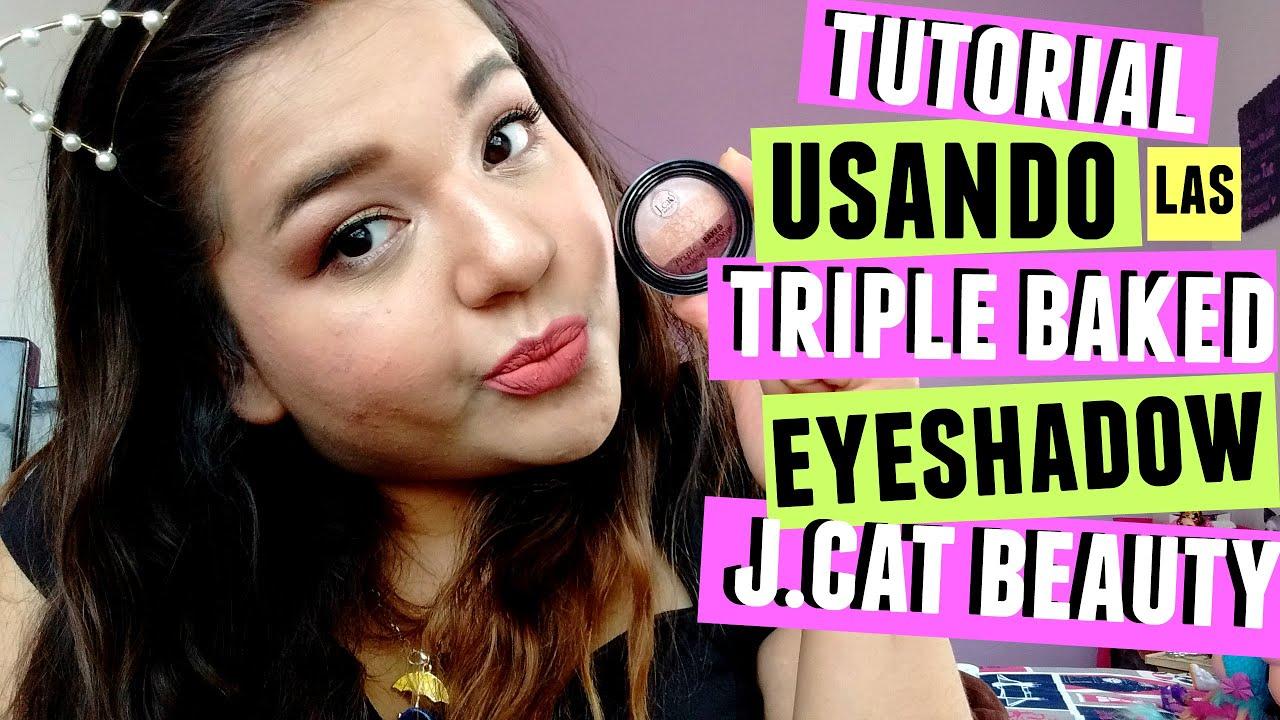 Demelza Makeup - Maquillaje usando las Triple Baked Eyeshadows de J.Cat