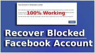 Facebook Account is Locked How to Unlock | How to Unlock Facebook Account When Temporary Locked