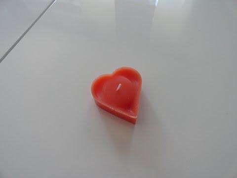 DIY Kerze gießen mit Backform - Kerzen einfach selber machen /Tutorial Deko Herz Kerze