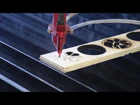 Cięcie OSB przy użyciu lasera Co2 seria C | OSB cutting using Co2 laser C series - zdjęcie