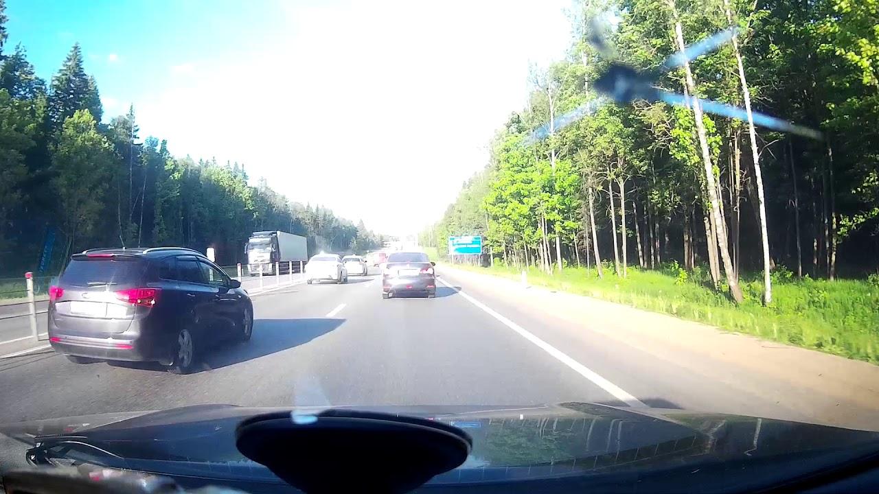 Мотоциклист кувыркнулся на Минском шоссе