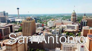 Drone San Antonio, Texas (Many Downtown Views)