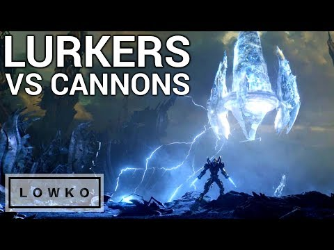 StarCraft 2: CANNON RUSH vs LURKER RUSH!