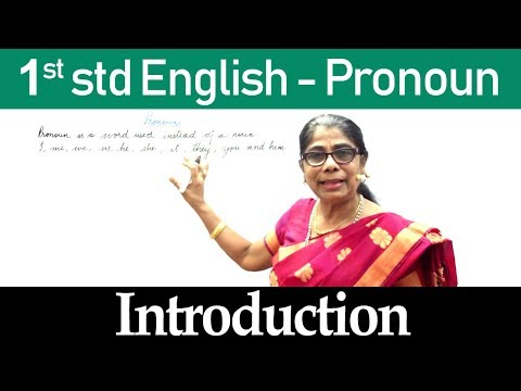 Download English For Class 1   1st std English   Pronoun   Introduction Mp4 HD Video and MP3