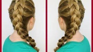 Fordított parketta fonás - Dutch braid