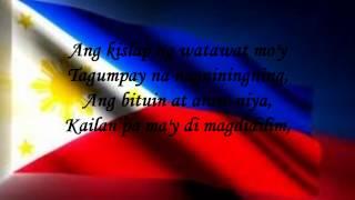 Lupang Hinirang  with Lyrics - Philippine National Anthem