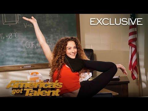 AGT's Talent University: Sofie Dossi Teaches Flexibility – America's Got Talent 2018