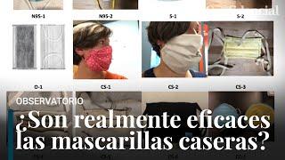 El estudio que demuestra cómo hacer mascarillas caseras más eficaces que las quirúrgicas