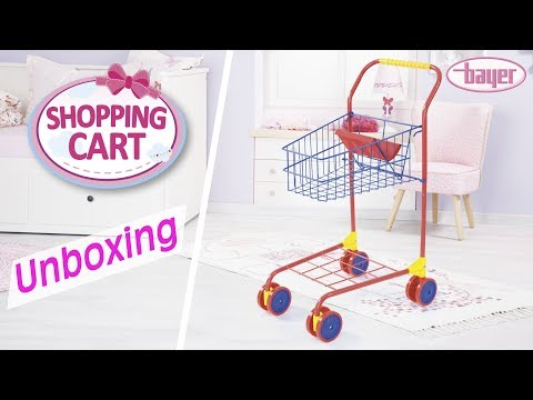 Shopping Cart for dolls - Einkaufswagen für Puppen - Unboxing - Bayer Design