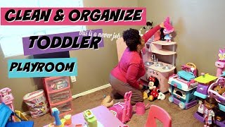 CLEANING MY KID PLAYROOM  | SPEED CLEANING ROUTINE