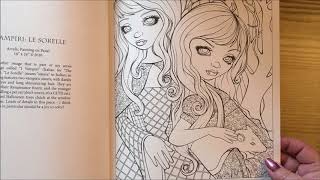 Coloring Book Fip Through - Halloween By Jasmine Becket-Griffith