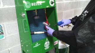 E50M Waterborne Spray Gun Cleaner – Operation