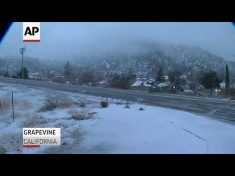 Storm dumps rain, snow on Southern California