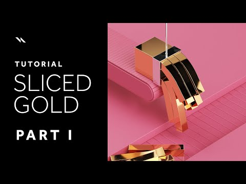 Sliced Gold | Cinema 4D tutorial – Part I