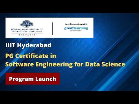 Program Launch - PG Certificate in Software Engineering for Data ...