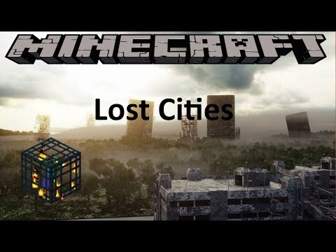 LOST CITIES MOD - MINECRAFT 1.12 (MOD SHOWCASE)