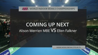 Just. 2019 World Indoor Bowls Championships: Day 13 Session 2
