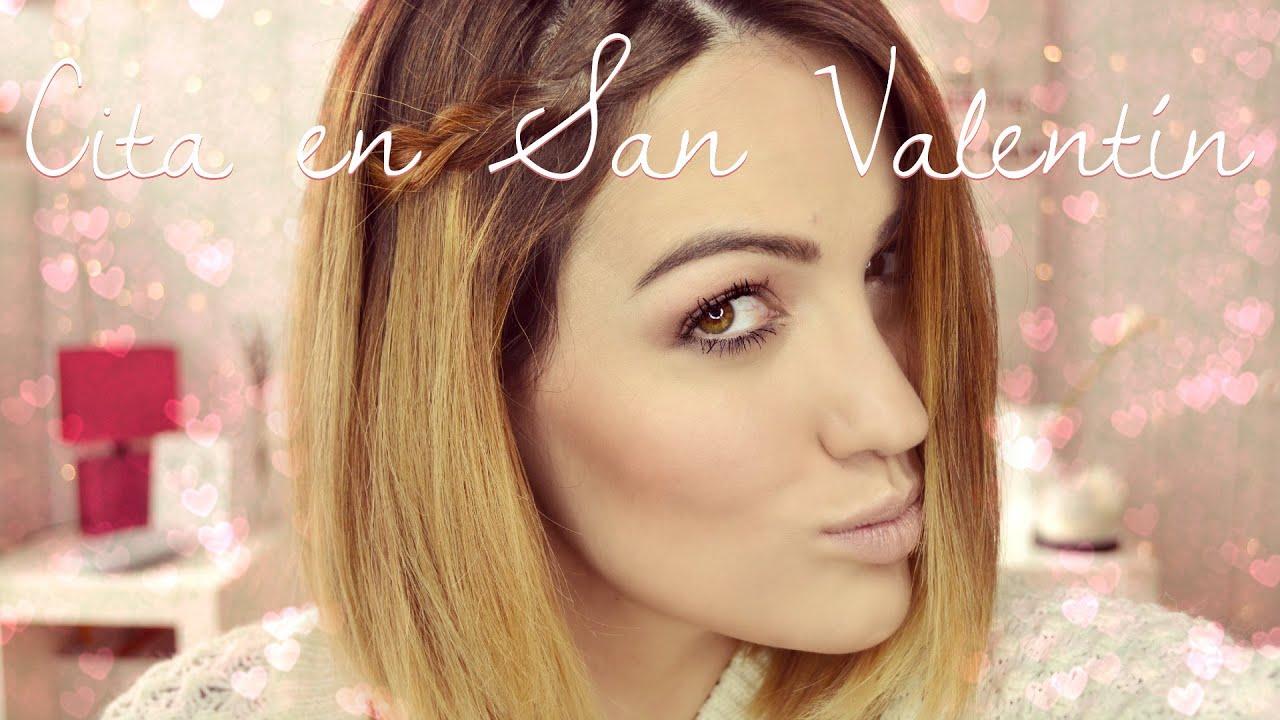 Tutorial maquillaje natural y peinado fácil para San Valentín