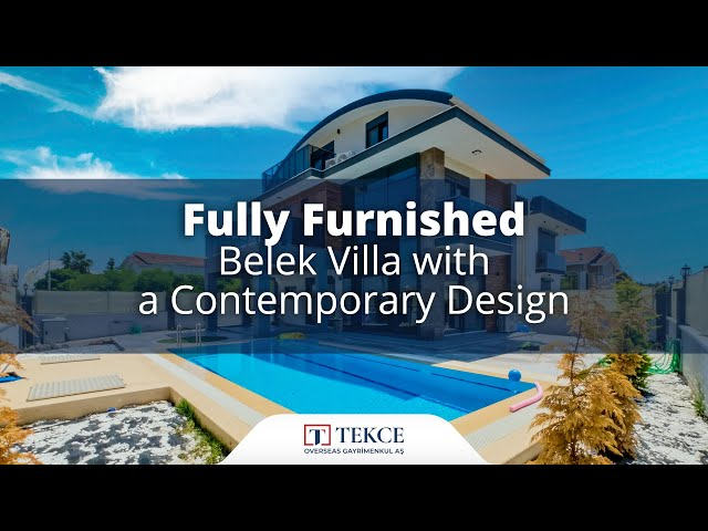 Luxurious Triplex Villa Close to The Golf Courses in Belek