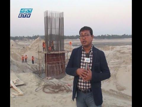 গড়াইয়ের উপর নির্মাণ হচ্ছে এলাকার দীর্ঘতম সেতু