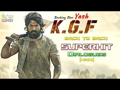 K.G.F (2018) Movie Back To Back SuperHit Dialogues In Hindi | Yash, Srinidhi Shetty | Prasanth Neel