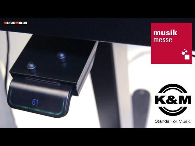 Моторизированная клавишная стойка от K&M (Musikmesse 2019)
