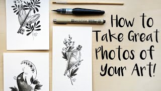 5 Tips For Better Photos Of Your Art (Flat-lay Techniques For Artists On Social Media And Etsy!)