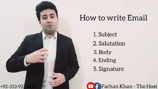 How to write Email (Urdu).