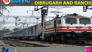 Get Emergency ICU Shifting Train Ambulance Service in Dibrugarh and Ranchi