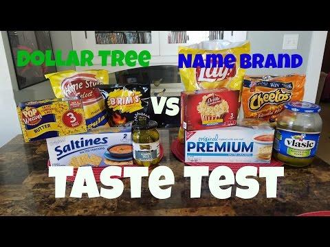 Dollar Tree Vs Name Brand Snacks | Taste Test