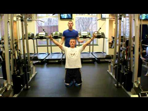Kneeling Cable Pull Down (Lat Pull Down Progression)