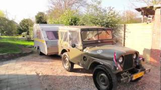 preview picture of video 'jeep m38a1 tour de france 2010 - Excursion en jeep Willys de France'