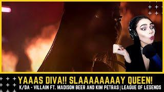 Dinka Kay REACTS: K/DA - VILLAIN ft. Madison Beer and Kim Petras  - Starring Evelynn