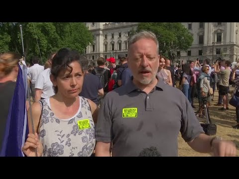 Protesters take to the streets as Trump visits UK