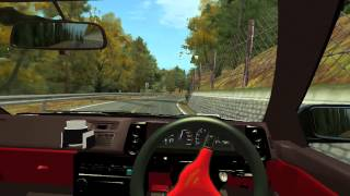 toyota corolla ae86 downhill akina rfactor simulator driving