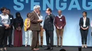 La France s'engage : remise du prix par Francois Hollande