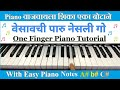 Vesavchi Paru Nesli Go || Simple Piano Notes || Piano Tutorial
